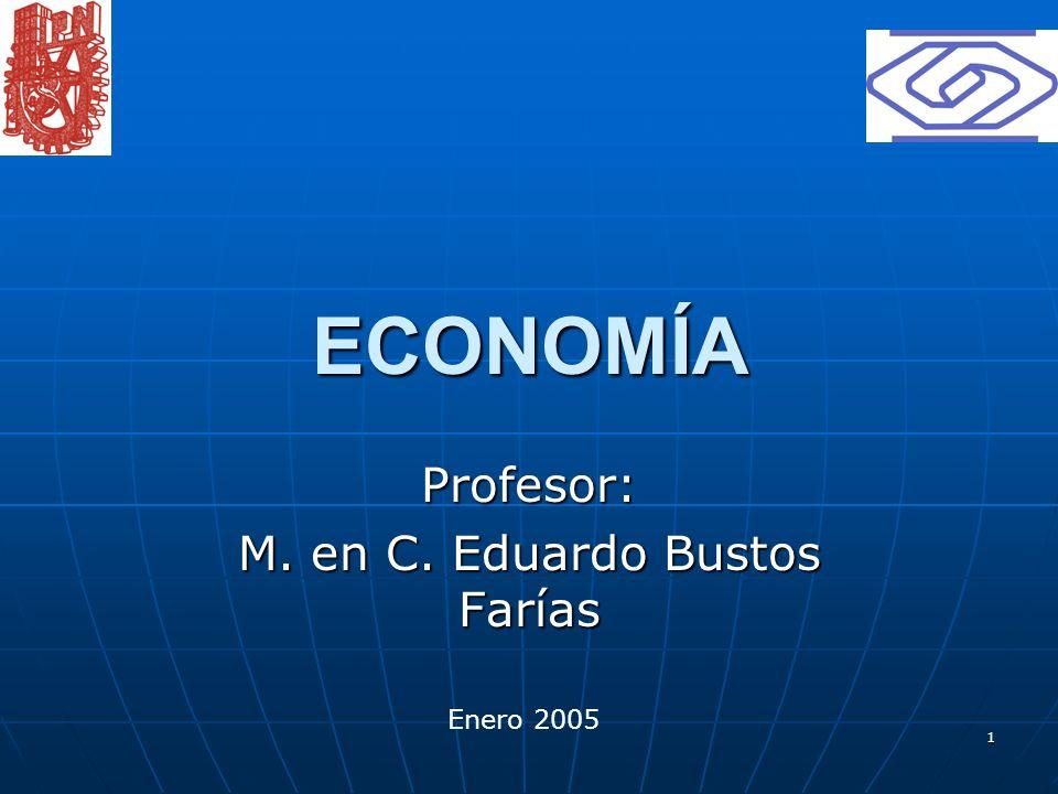 Profesor: M. en C. Eduardo Bustos Farías