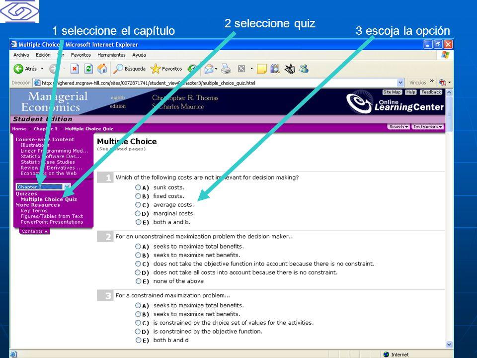 2 seleccione quiz 1 seleccione el capítulo 3 escoja la opción