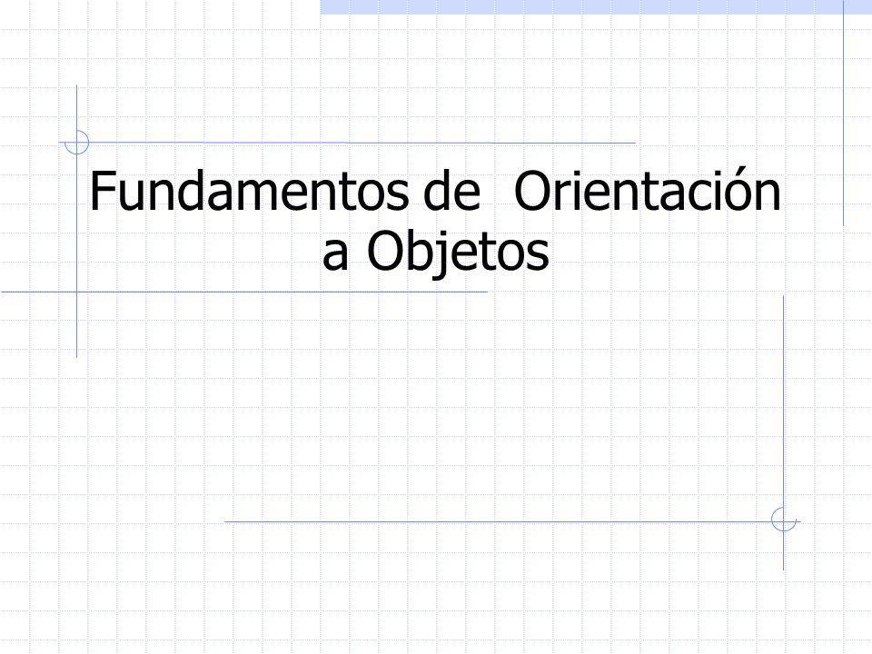 Fundamentos de Orientación a Objetos