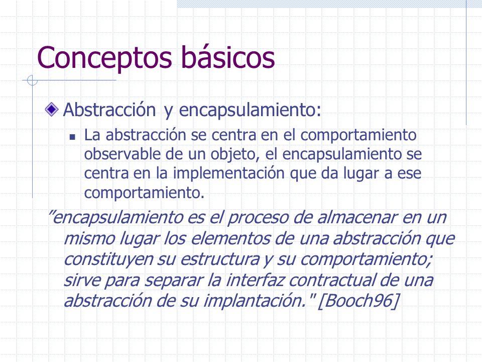 Conceptos básicos Abstracción y encapsulamiento: