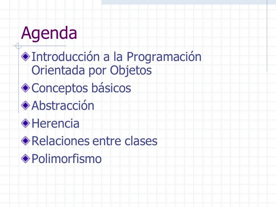 Agenda Introducción a la Programación Orientada por Objetos