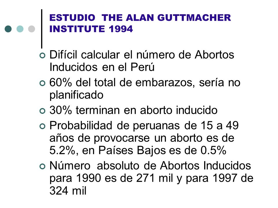 ESTUDIO THE ALAN GUTTMACHER INSTITUTE 1994