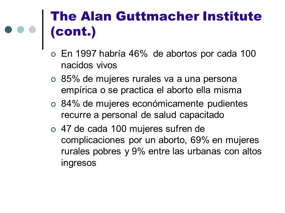 The Alan Guttmacher Institute (cont.)