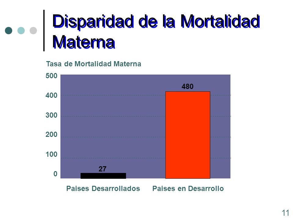 Disparidad de la Mortalidad Materna