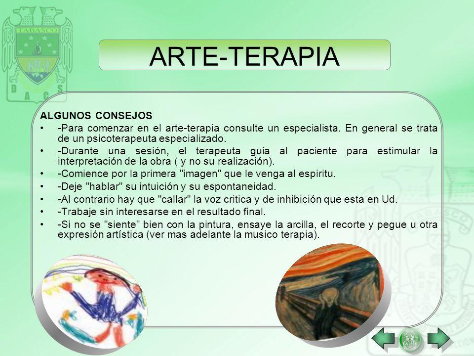 ARTE-TERAPIA ALGUNOS CONSEJOS