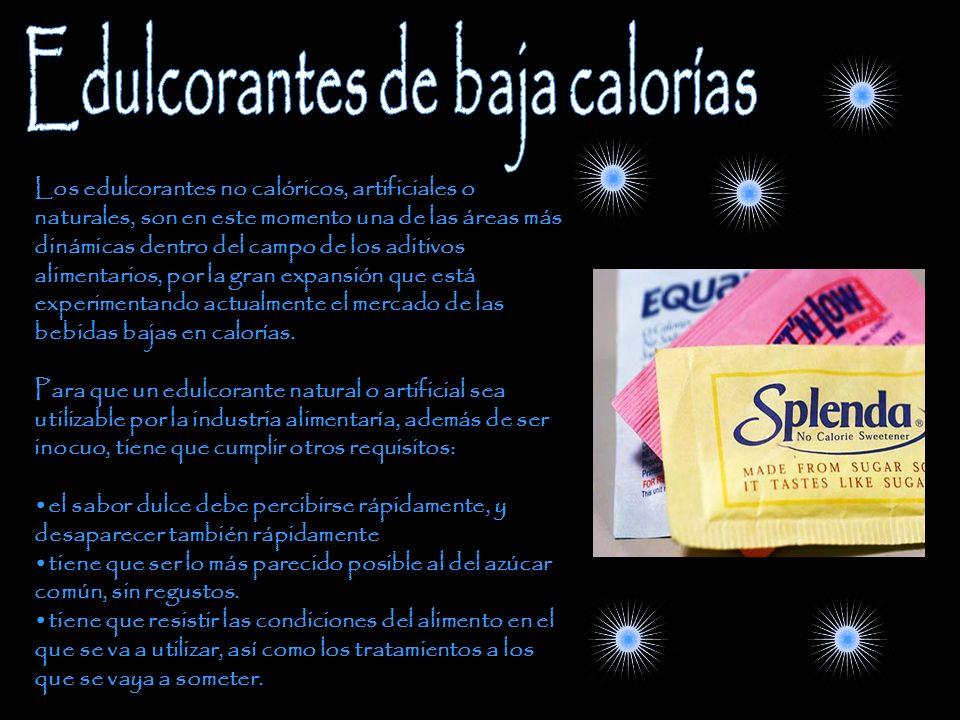 Edulcorantes de baja calorías