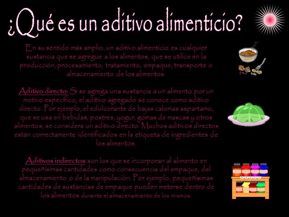 ¿Qué es un aditivo alimenticio