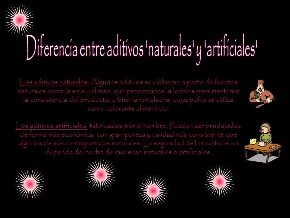 Diferencia entre aditivos naturales y artificiales