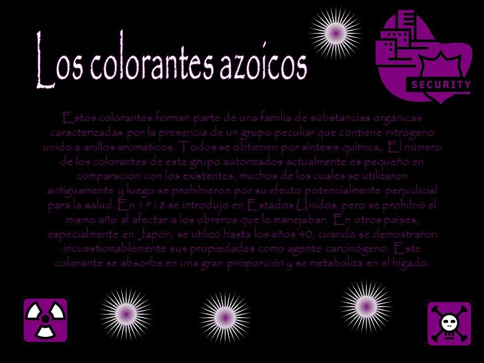 Los colorantes azoicos