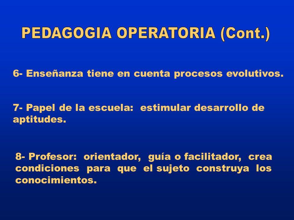 PEDAGOGIA OPERATORIA (Cont.)