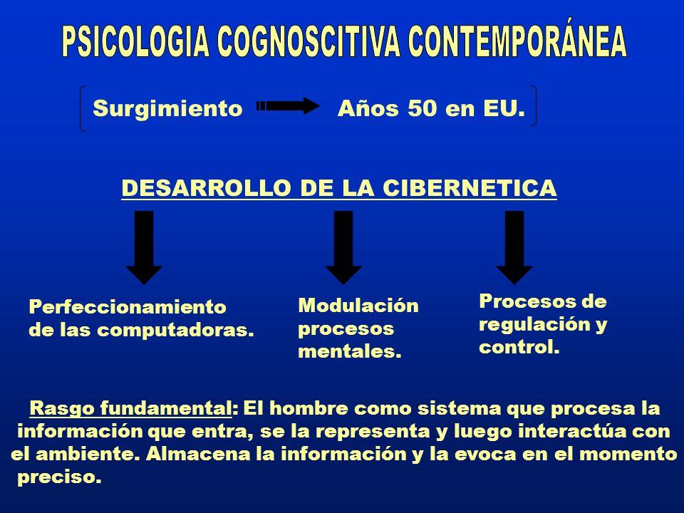 PSICOLOGIA COGNOSCITIVA CONTEMPORÁNEA
