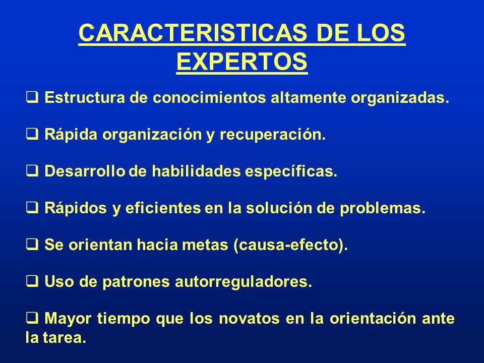 CARACTERISTICAS DE LOS EXPERTOS