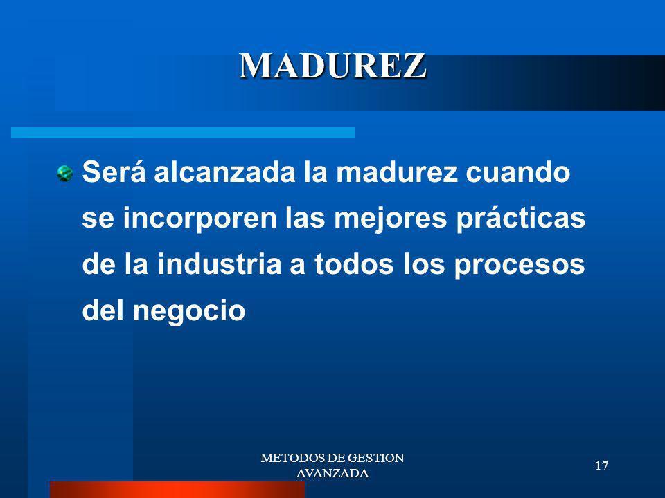 METODOS DE GESTION AVANZADA