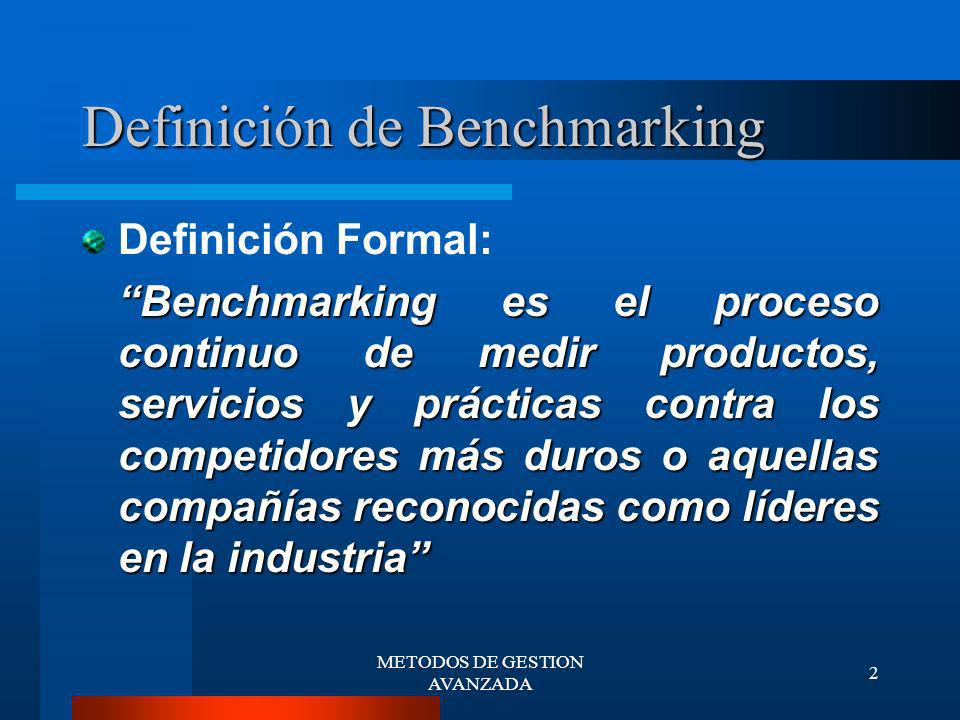 Definición de Benchmarking