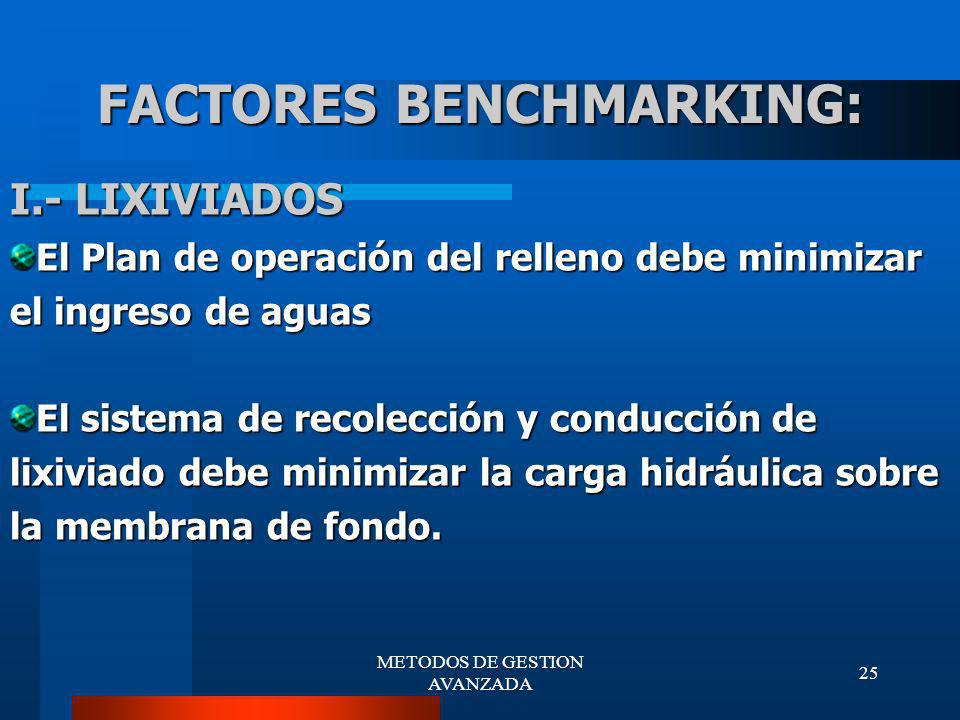 FACTORES BENCHMARKING: