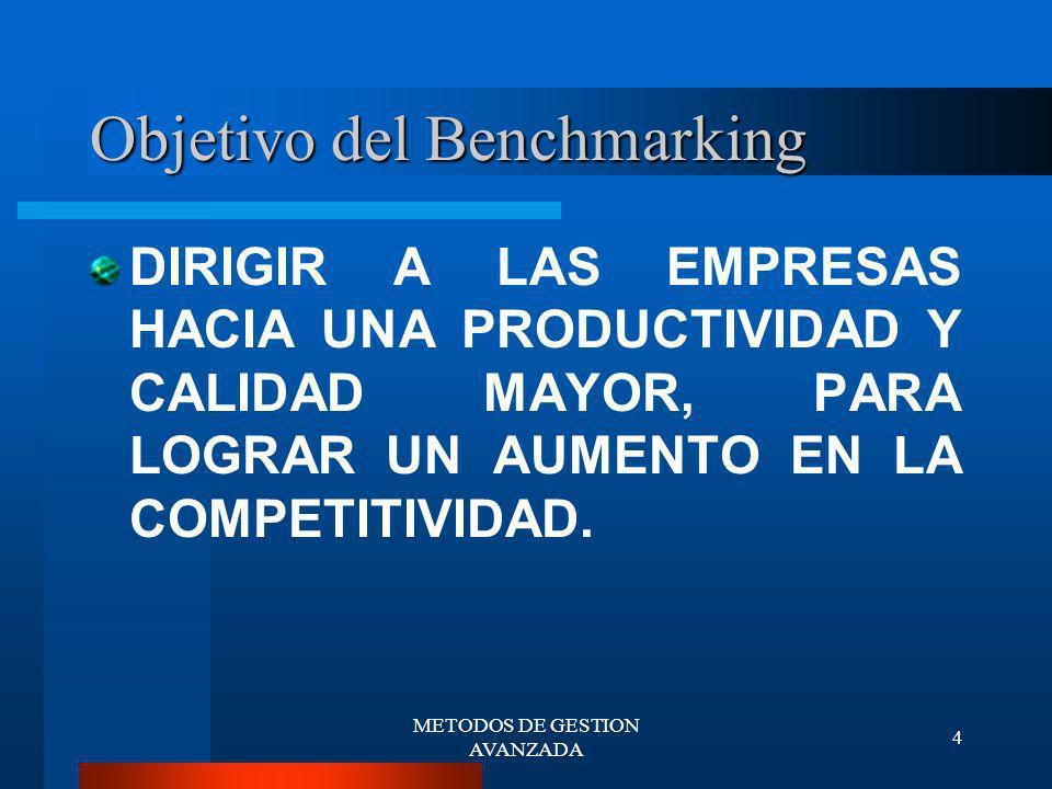 Objetivo del Benchmarking