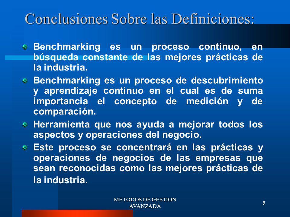 Conclusiones Sobre las Definiciones: