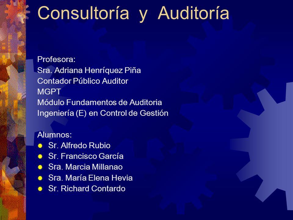 Consultoría y Auditoría
