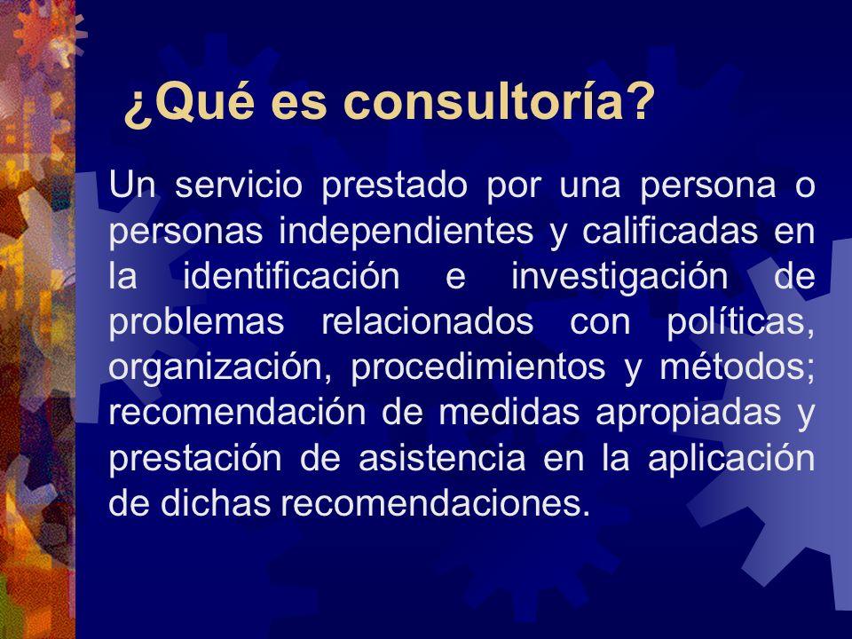 ¿Qué es consultoría