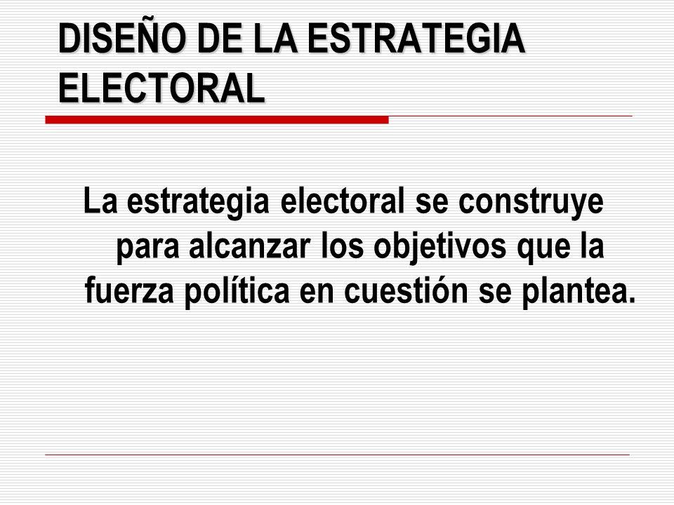 DISEÑO DE LA ESTRATEGIA ELECTORAL