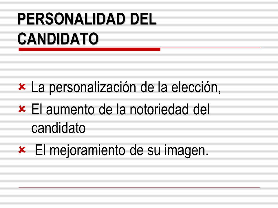PERSONALIDAD DEL CANDIDATO