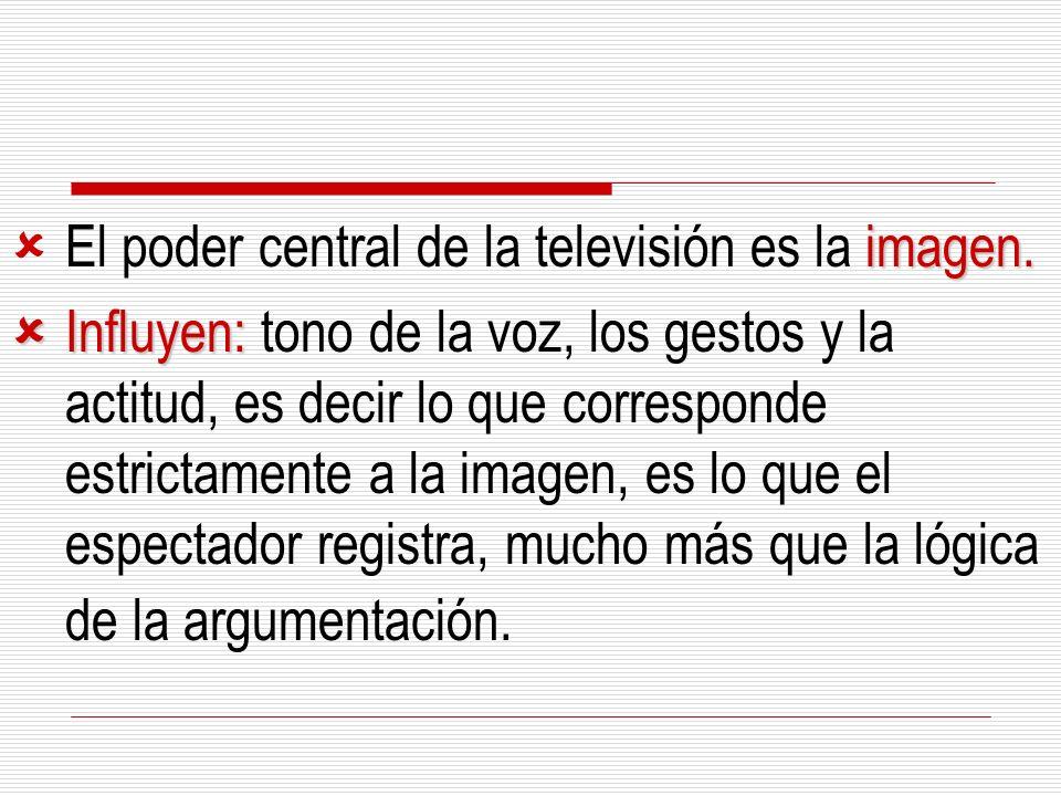 El poder central de la televisión es la imagen.