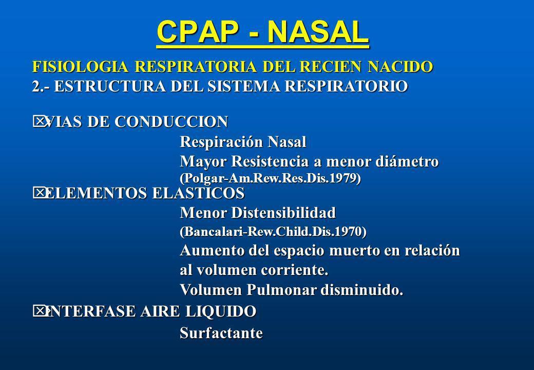 CPAP - NASAL FISIOLOGIA RESPIRATORIA DEL RECIEN NACIDO