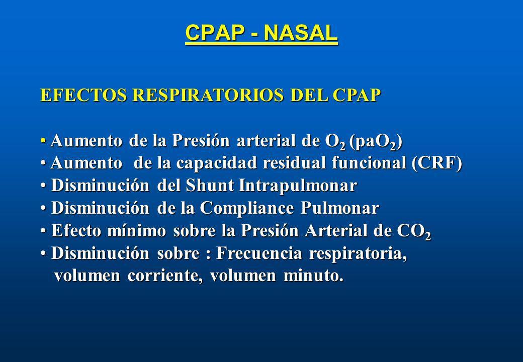 CPAP - NASAL EFECTOS RESPIRATORIOS DEL CPAP