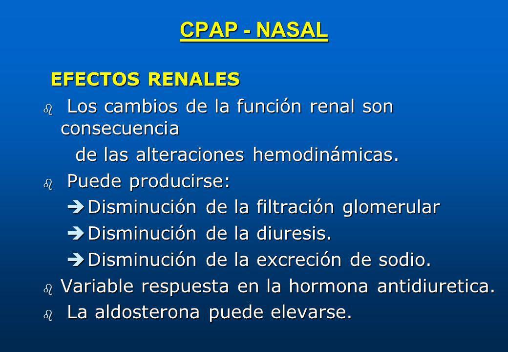 CPAP - NASAL EFECTOS RENALES