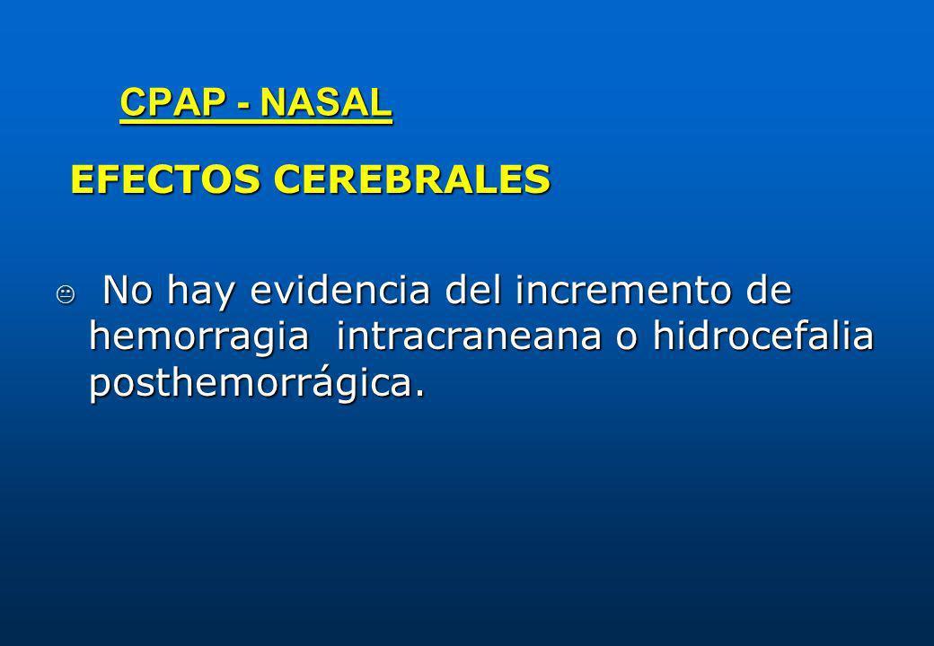 CPAP - NASAL EFECTOS CEREBRALES.