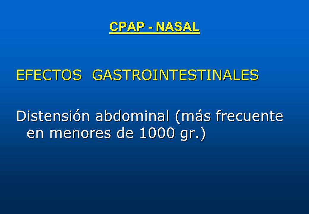 EFECTOS GASTROINTESTINALES