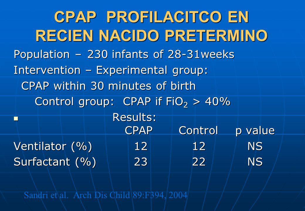CPAP PROFILACITCO EN RECIEN NACIDO PRETERMINO