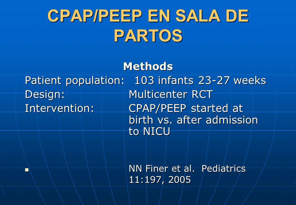 CPAP/PEEP EN SALA DE PARTOS