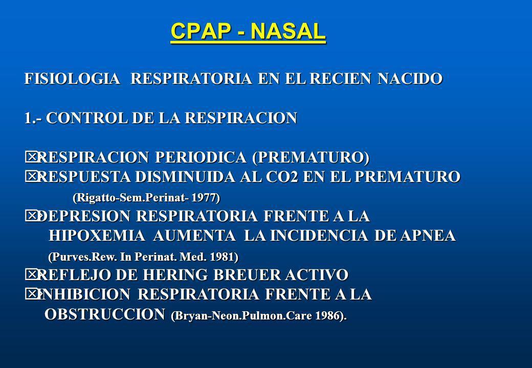 CPAP - NASAL FISIOLOGIA RESPIRATORIA EN EL RECIEN NACIDO