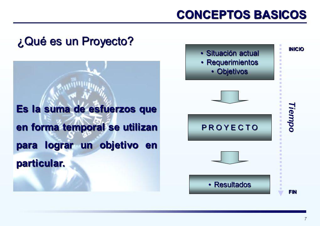 CONCEPTOS BASICOS ¿Qué es un Proyecto