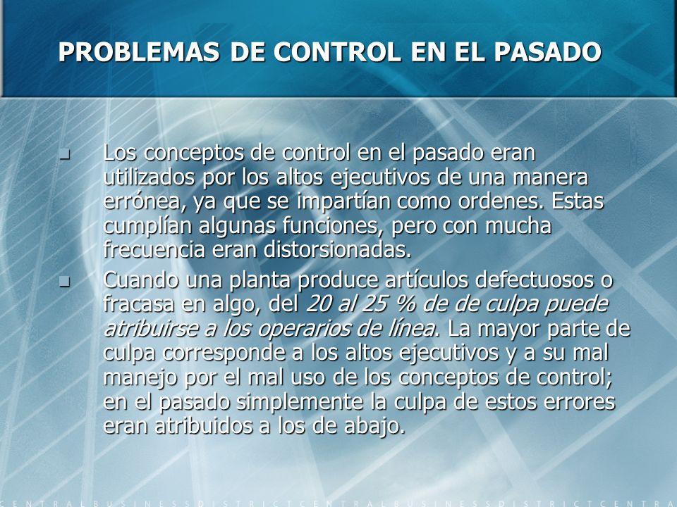 PROBLEMAS DE CONTROL EN EL PASADO