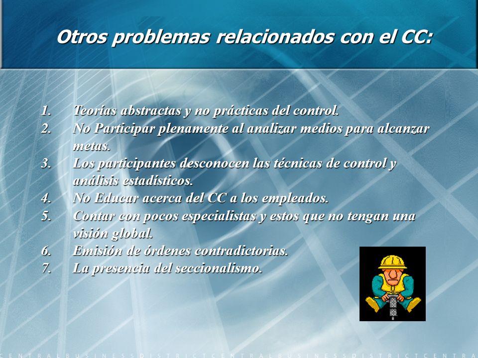 Otros problemas relacionados con el CC: