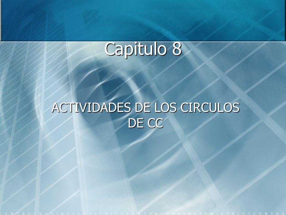 ACTIVIDADES DE LOS CIRCULOS DE CC