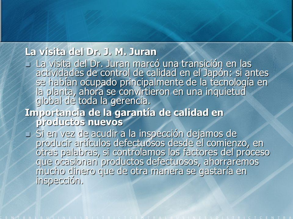 La visita del Dr. J. M. Juran