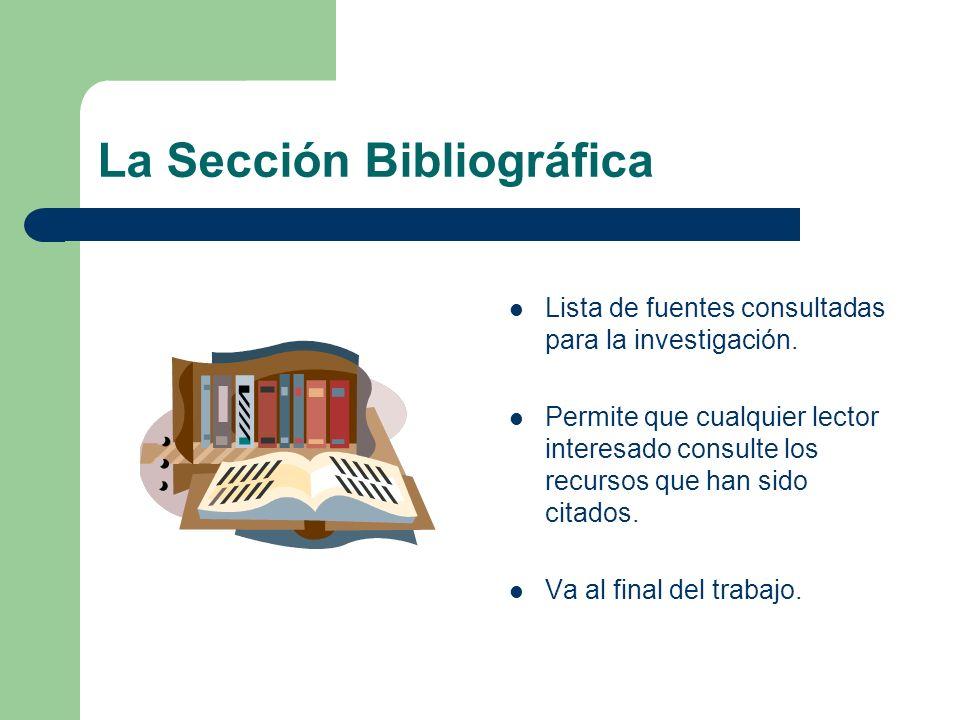 La Sección Bibliográfica
