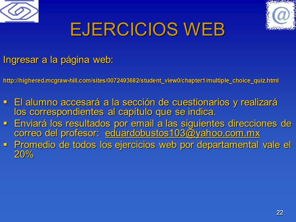 EJERCICIOS WEB Ingresar a la página web:
