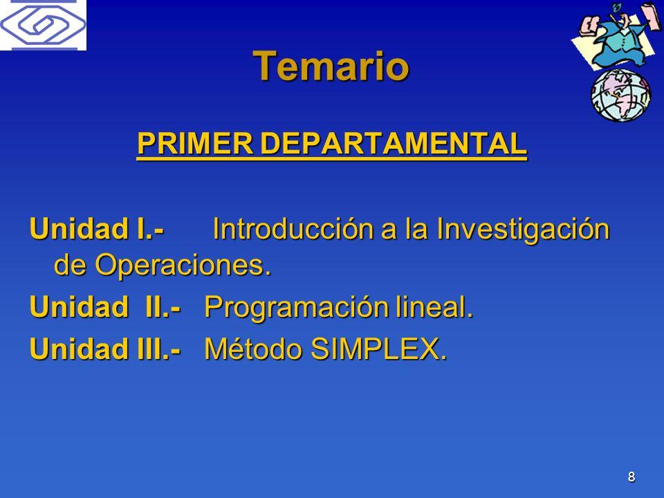 Temario PRIMER DEPARTAMENTAL