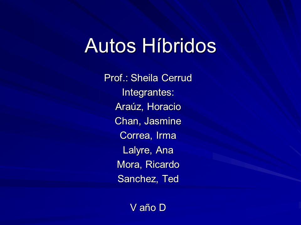 Autos Híbridos Prof.: Sheila Cerrud Integrantes: Araúz, Horacio