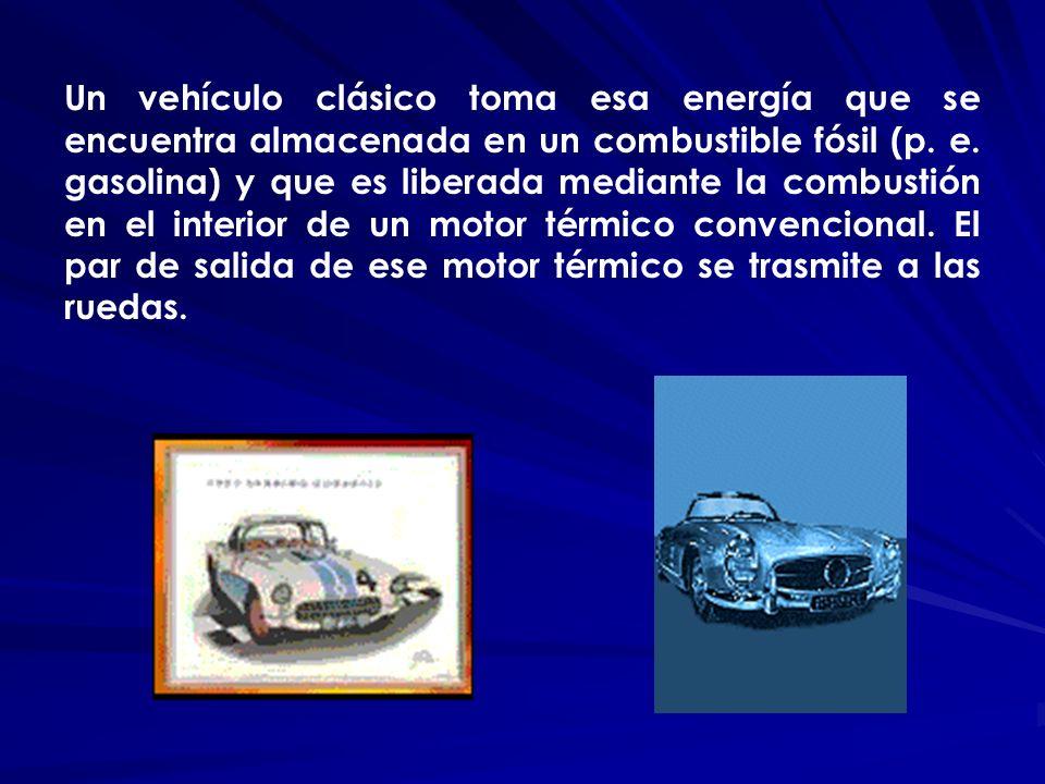 Un vehículo clásico toma esa energía que se encuentra almacenada en un combustible fósil (p.