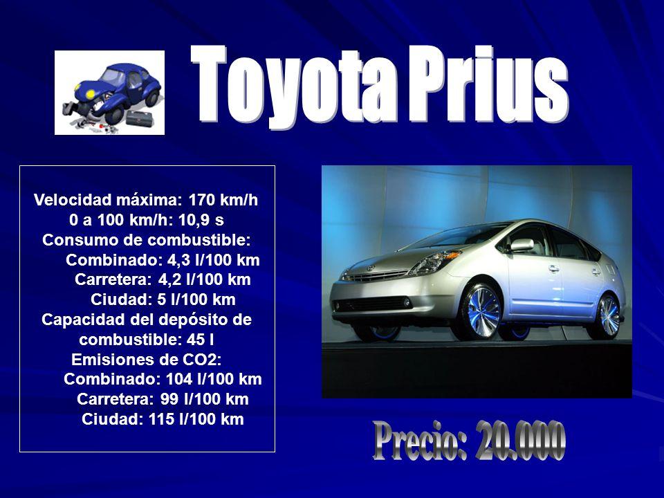 Toyota Prius Precio: 20.000 Velocidad máxima: 170 km/h