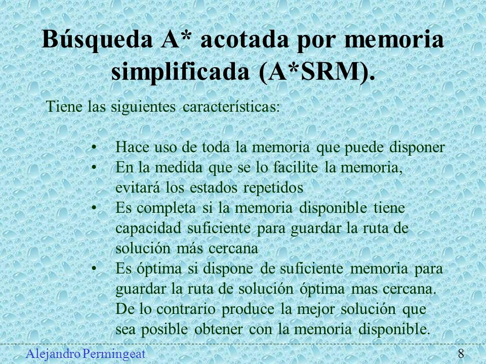 Búsqueda A* acotada por memoria simplificada (A*SRM).