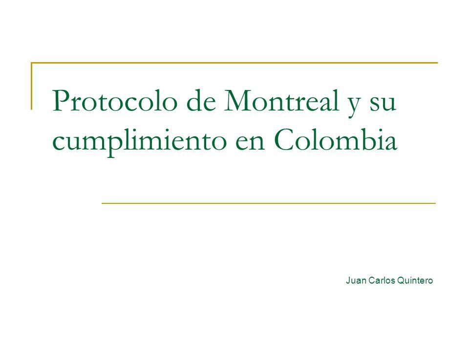 Protocolo de Montreal y su cumplimiento en Colombia