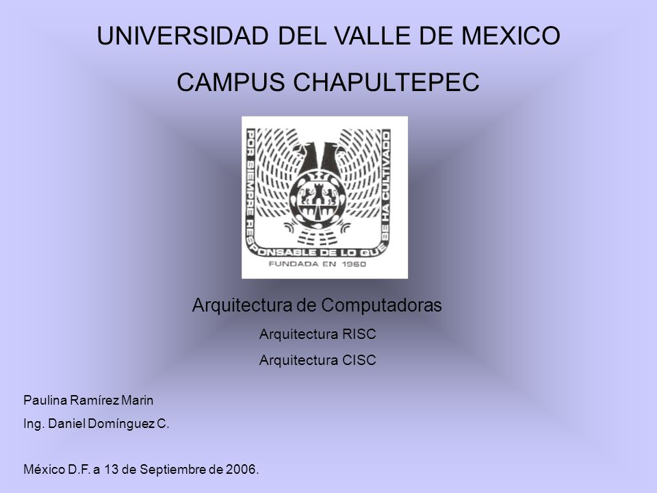 UNIVERSIDAD DEL VALLE DE MEXICO CAMPUS CHAPULTEPEC