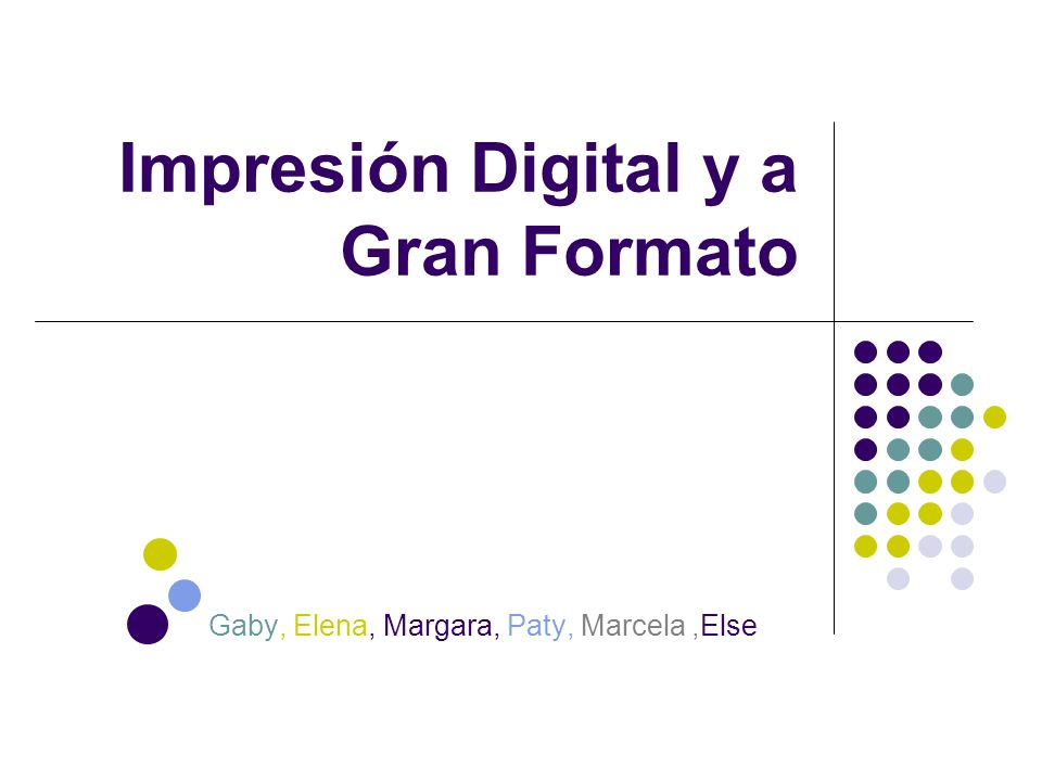 Impresión Digital y a Gran Formato