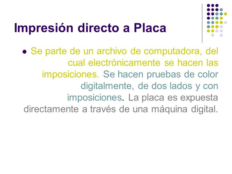 Impresión directo a Placa